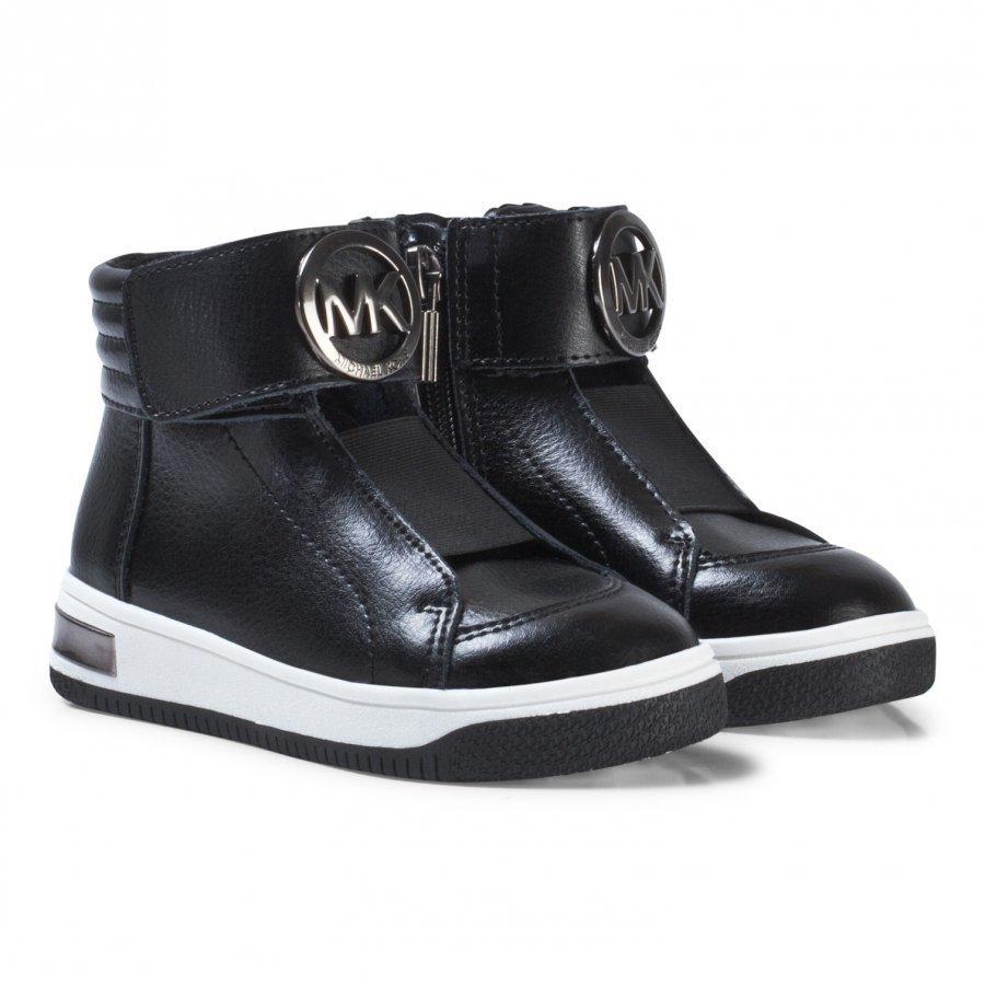 Michael Kors Black Logo Leather Zia Tatum June-T Zip Trainers Lenkkarit