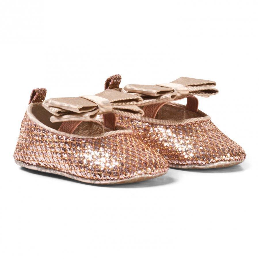 Michael Kors Pale Pink Pom Pom Zia Baby Crib Shoes Vauvan Kengät