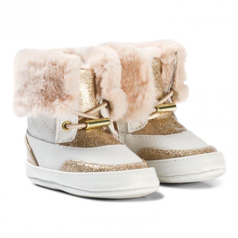 Michael Kors White And Gold Glitter Zia Baby Lulu Vauvan Kengät