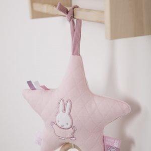 Miffy Tähti Soittorasia Vaaleanpunainen