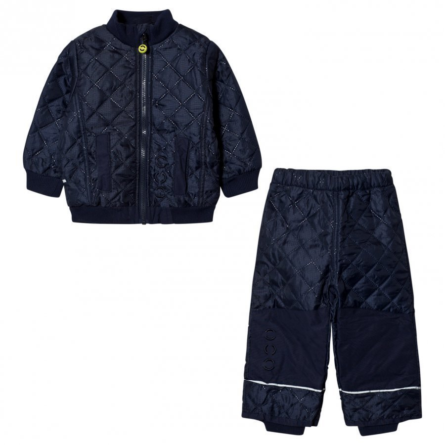 Mikk-Line Fleece Thermo Set Dark Marine Asusetti