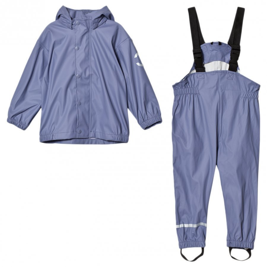 Mikk-Line Pu Rain Set Campaign Blue Ice Purple Sadesetti