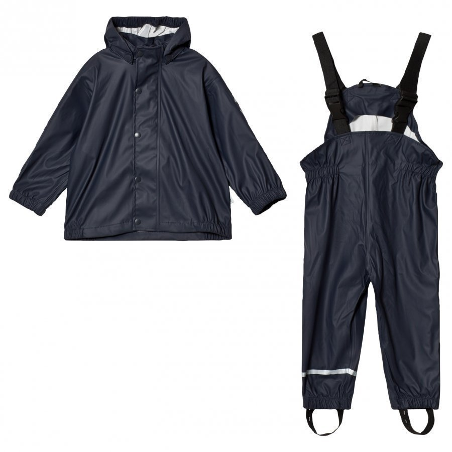 Mikk-Line Pu Rain Set Campaign Blue Nights Sadesetti