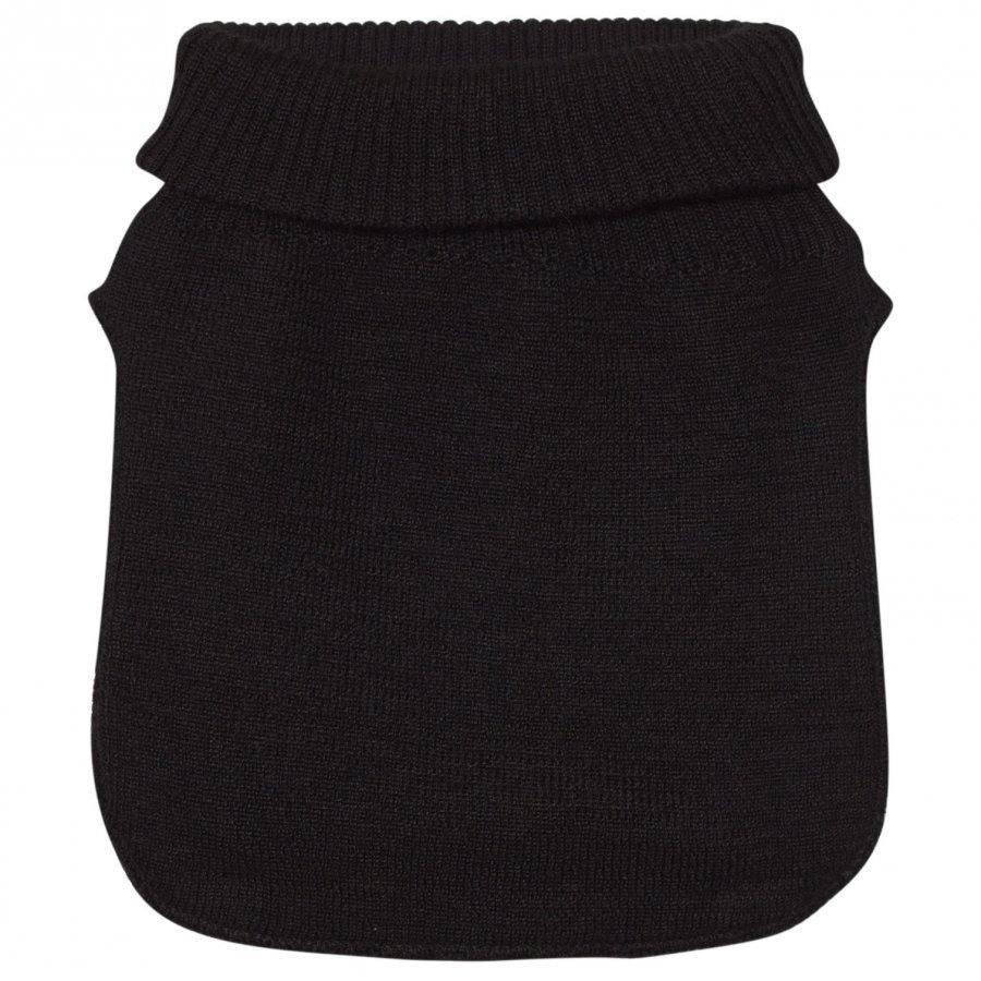Mikk-Line Wool Blend Neckwarmer Black Kietaisuhuivi