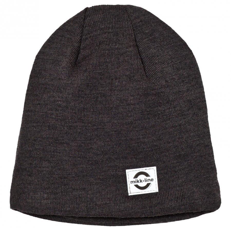 Mikk-Line Wool Hat Solid 9105 Dark Grey Melange Pipo