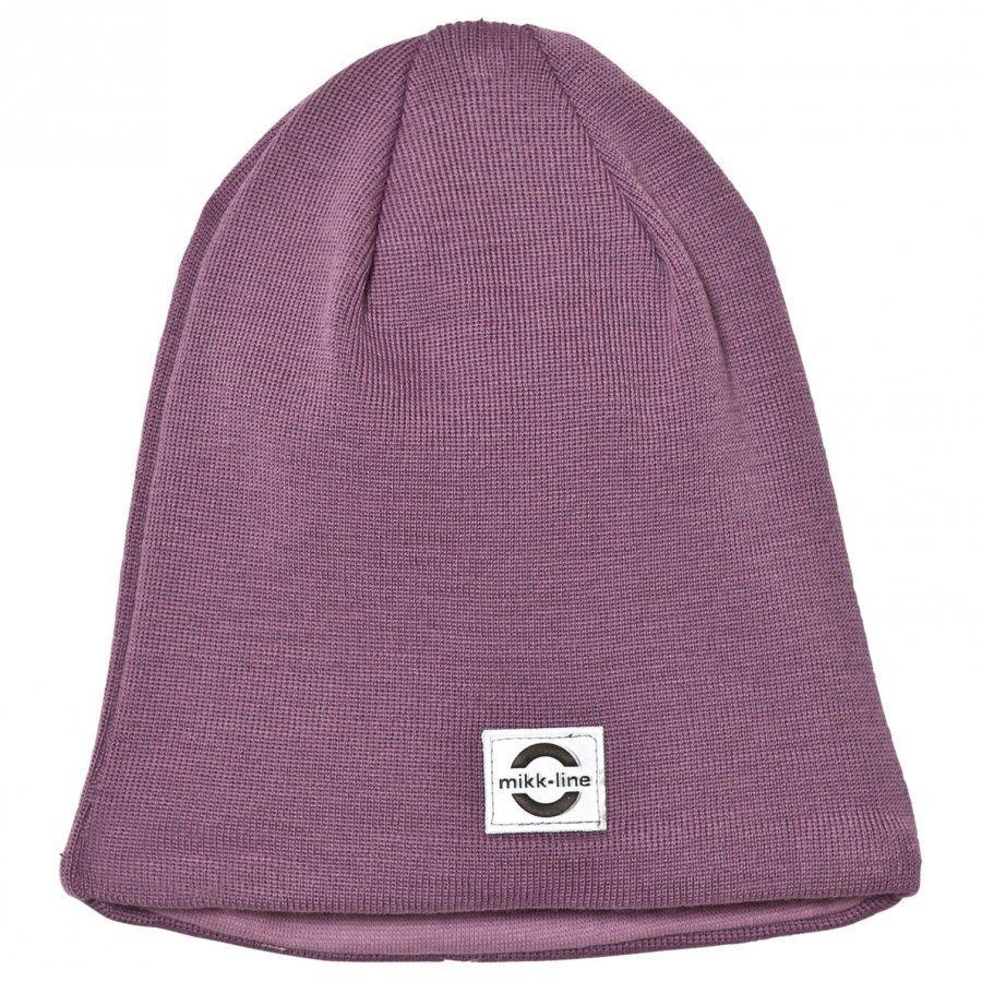 Mikk-Line Wool Hat Solid 9105 Very Grape Pipo