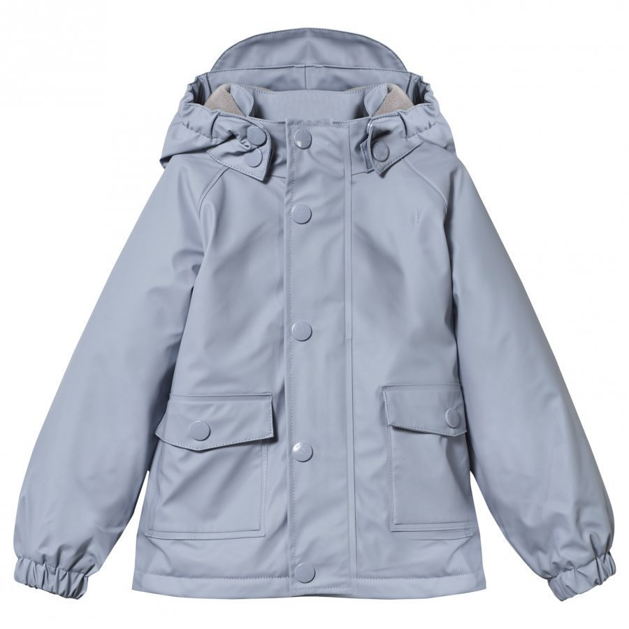 Mini A Ture Julien Lined Rain Jacket Cameo Blue Sadetakki
