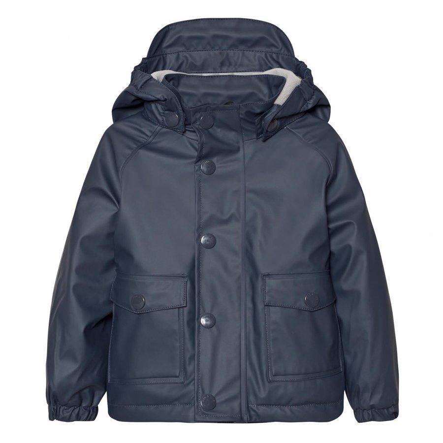 Mini A Ture Julien Lined Rain Jacket Ombre Blue Sadetakki