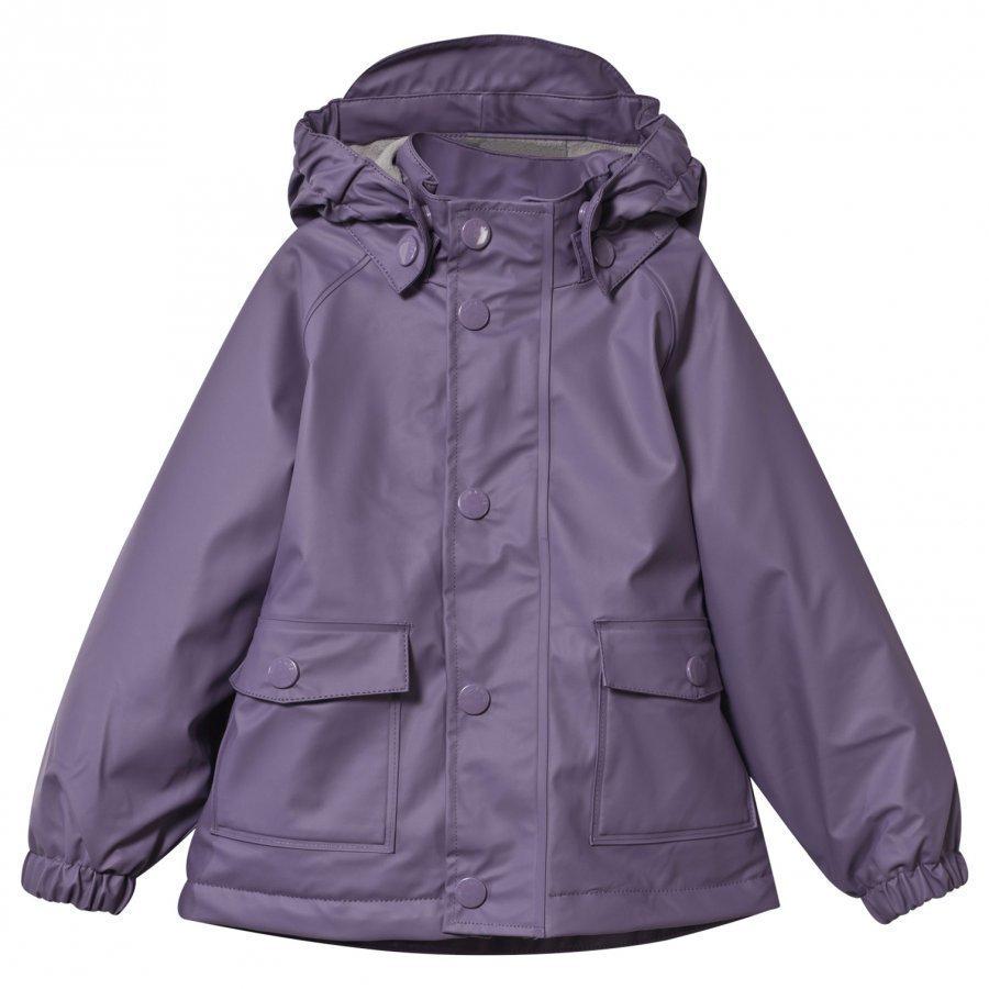 Mini A Ture Julien Lined Rain Jacket Purple Heart Sadetakki