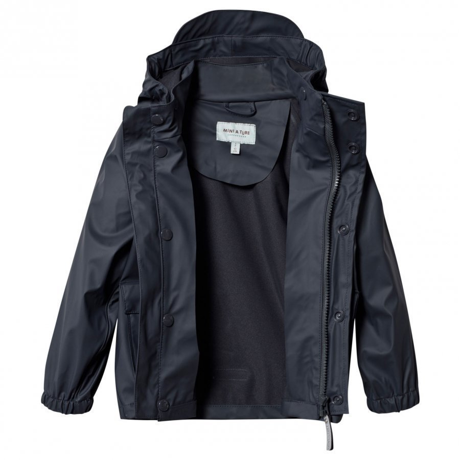 Mini A Ture Julien Rain Jacket Ombre Blue Sadetakki