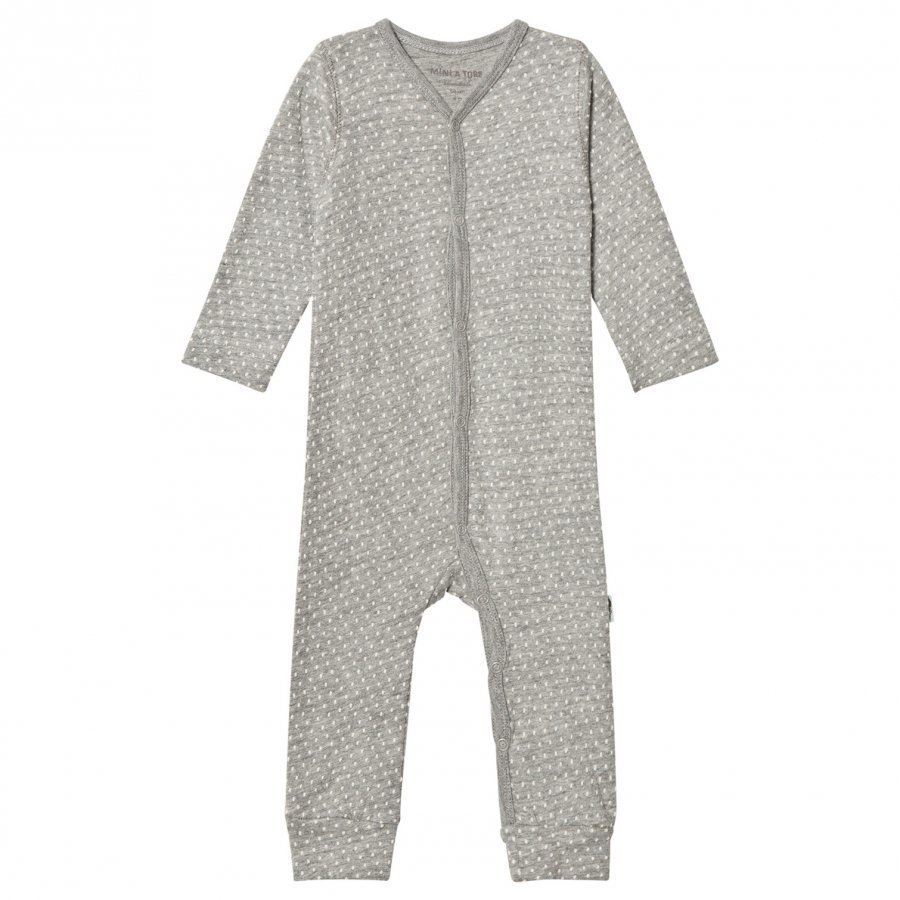 Mini A Ture Mattie One-Piece Light Grey Romper Puku