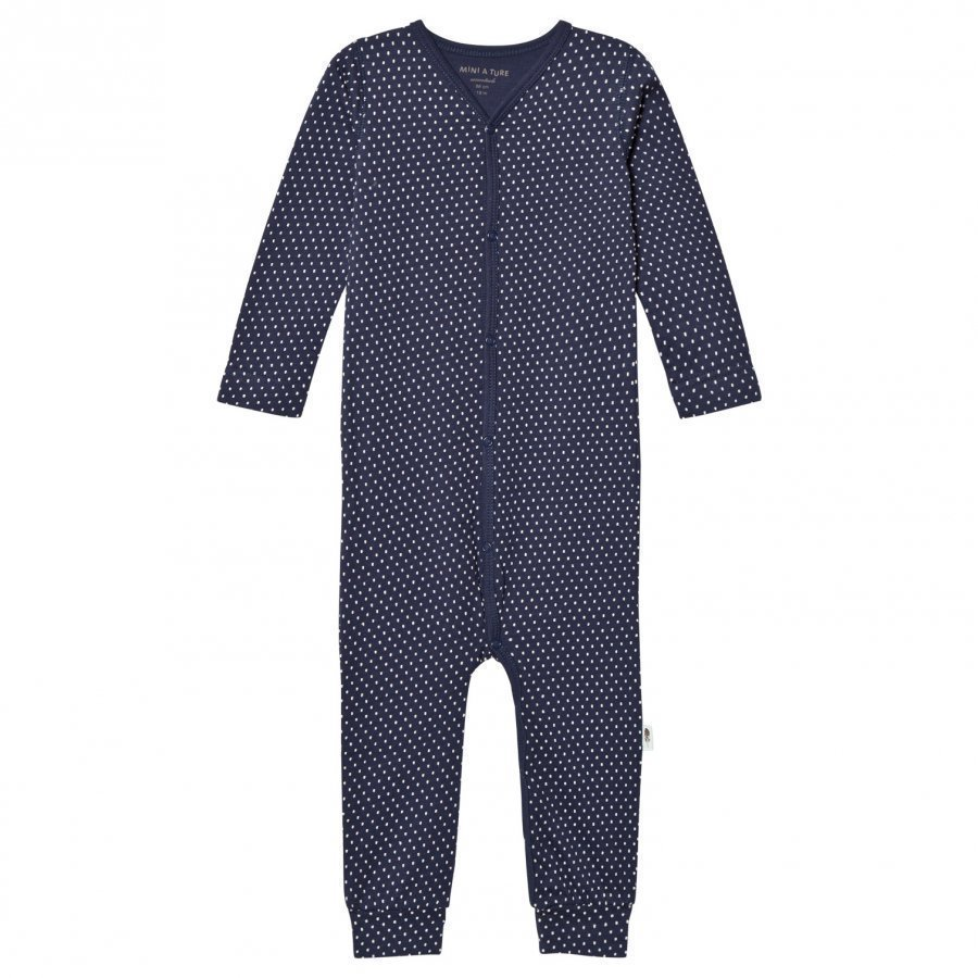 Mini A Ture Mattie One-Piece Mood Indigo Romper Puku