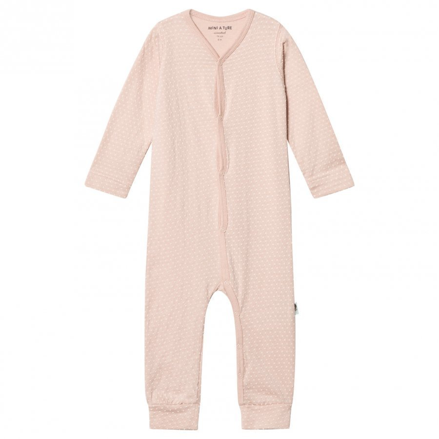 Mini A Ture Mattie One-Piece Rose Dust Romper Puku