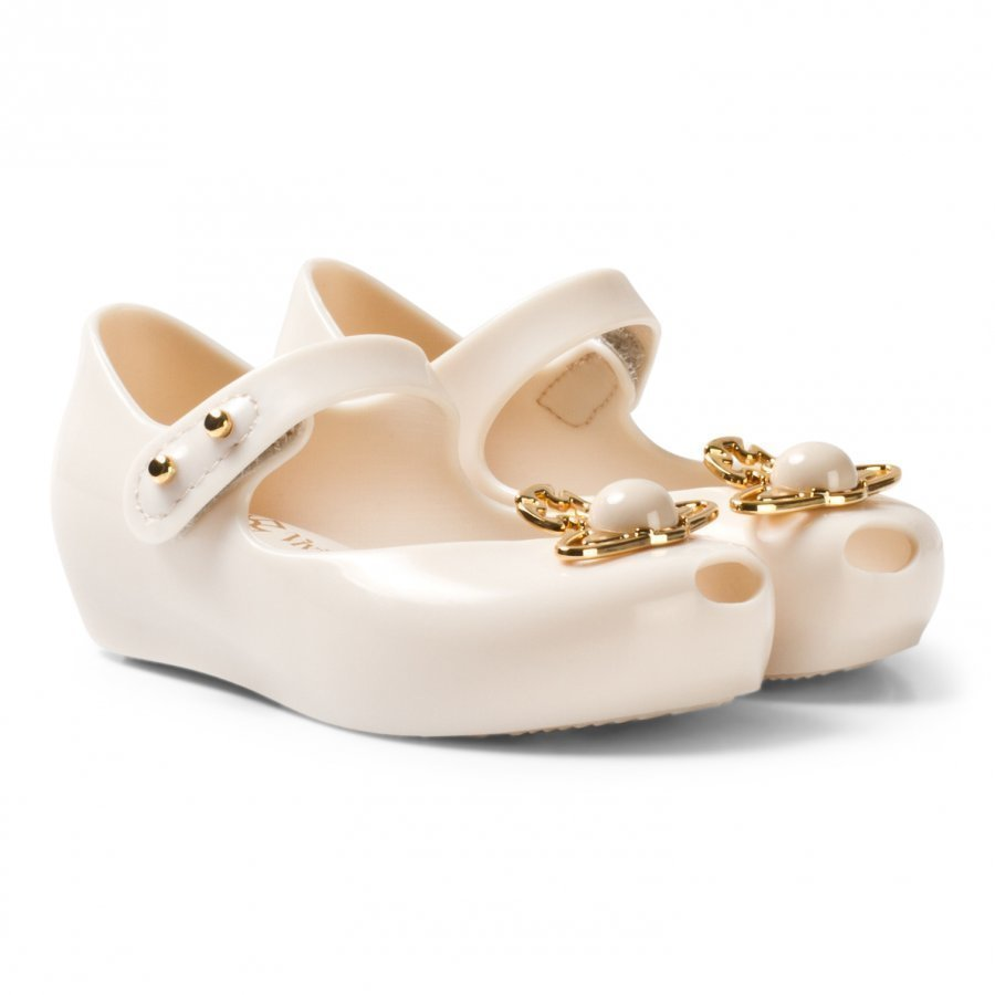 Mini Melissa Mini Ultragirl + Vivienne Westwood Ivory Pearl And Orb Ballerinat