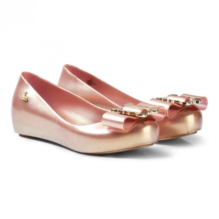 Mini Melissa Vivienne Westwood Anglomania + Mel Ultragirl Pink Ballerinat