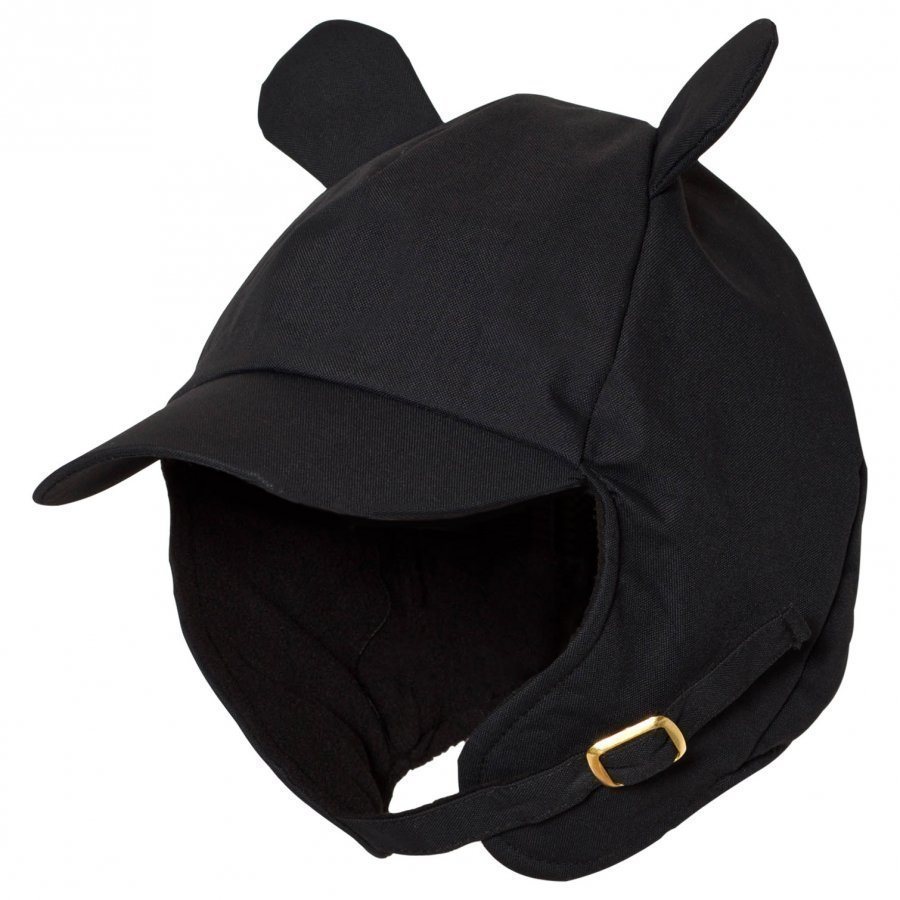 Mini Rodini Alaska Ear Cap Black Lippis