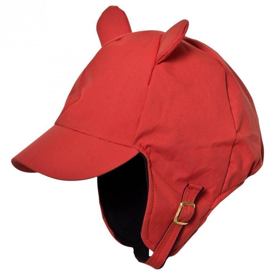 Mini Rodini Alaska Ear Cap Red Lippis