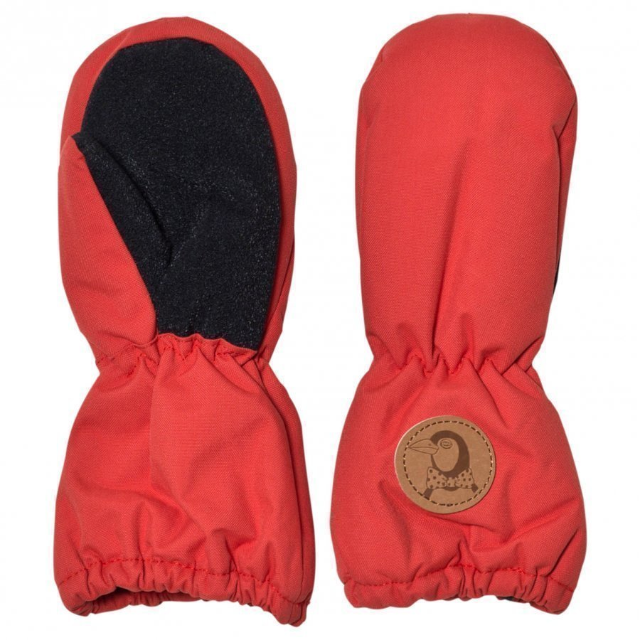 Mini Rodini Alaska Glove Red Hanskat