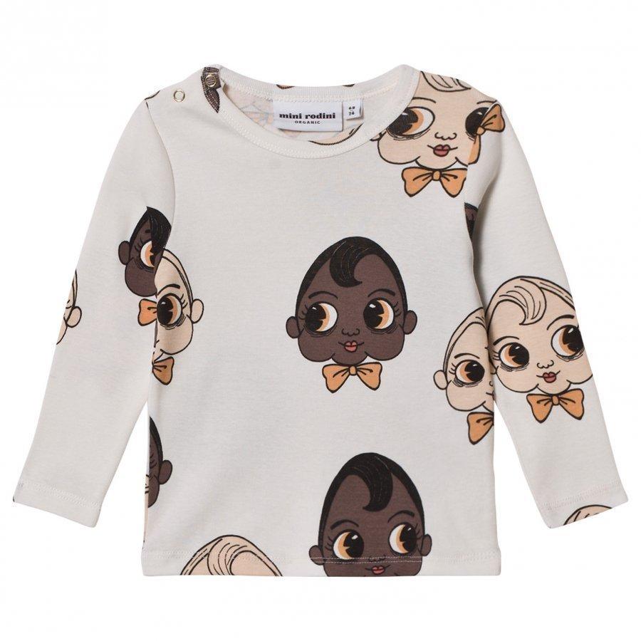 Mini Rodini Babies Tee White Pitkähihainen T-Paita
