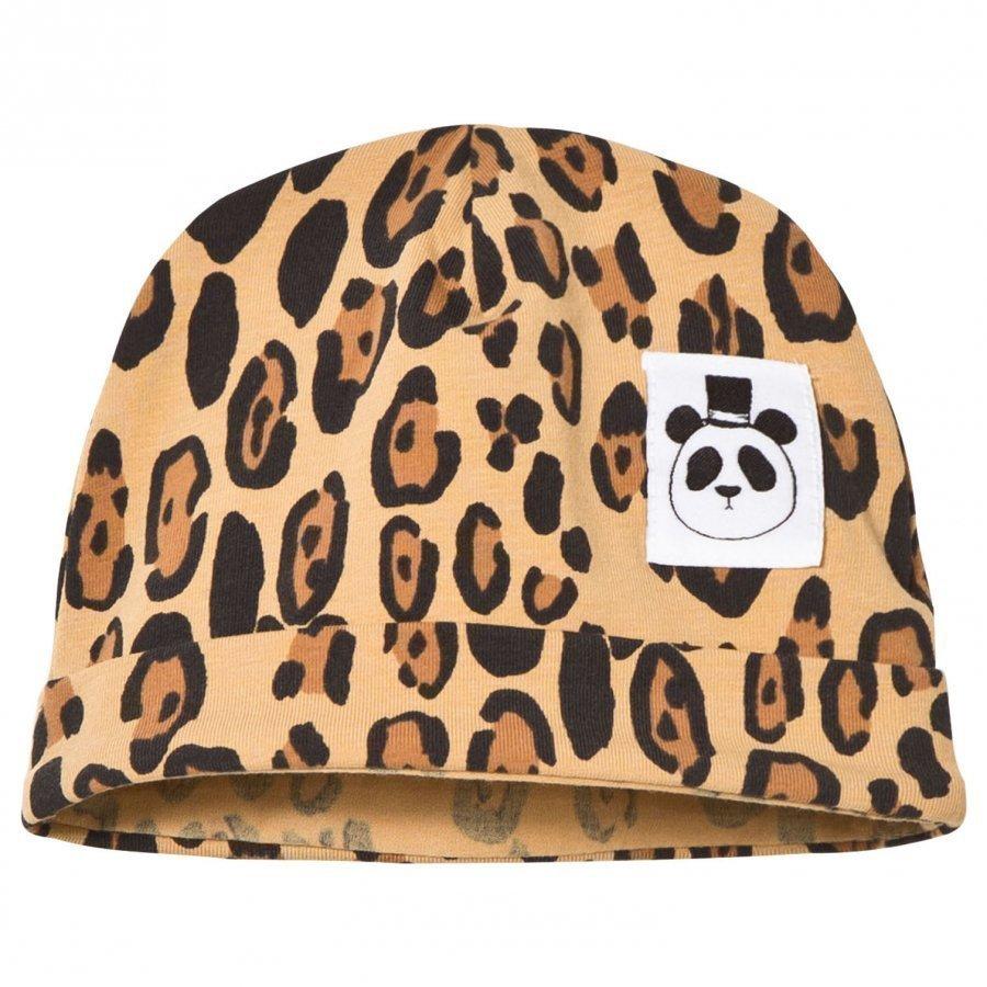 Mini Rodini Basic Baby Beanie Leopard Beige Pipo