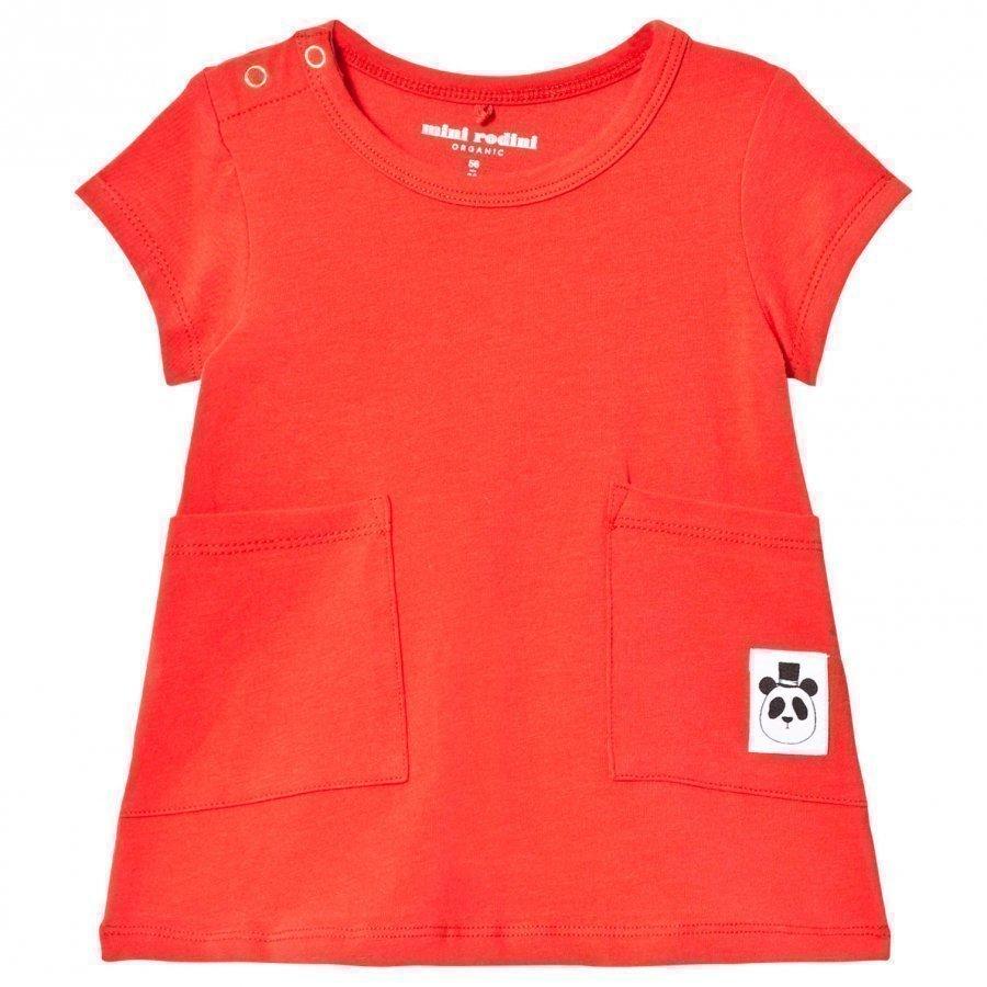 Mini Rodini Basic Dress Red Mekko