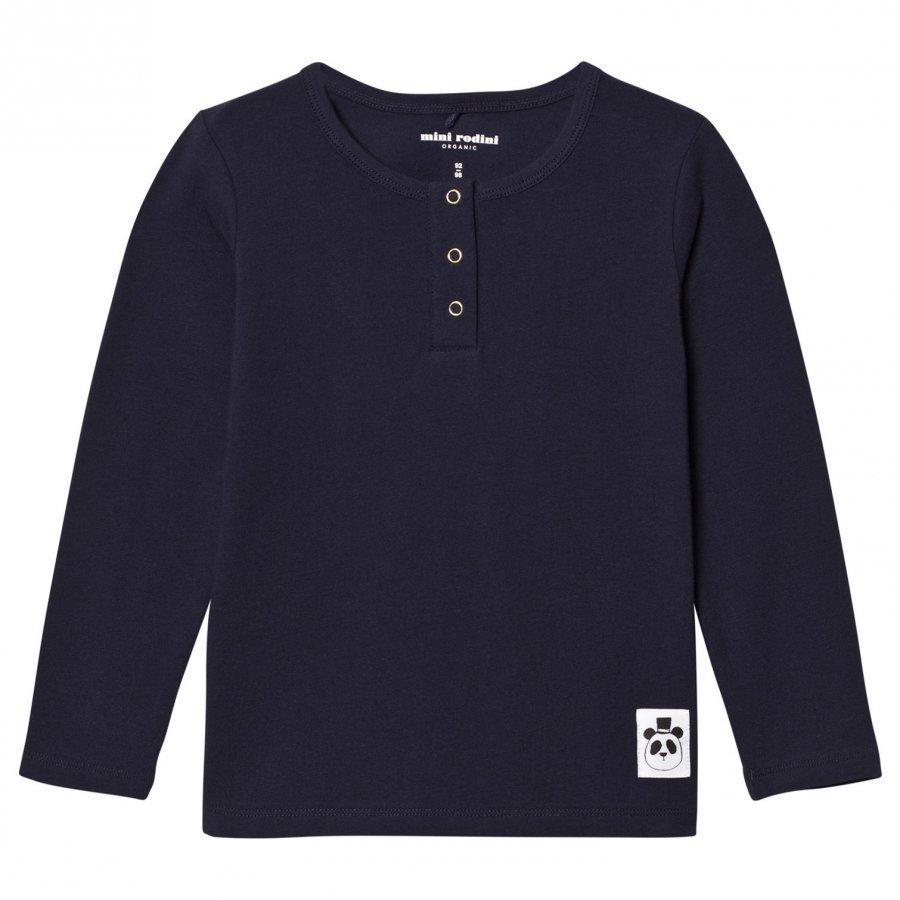 Mini Rodini Basic Grandpa Tee Navy Pitkähihainen T-Paita