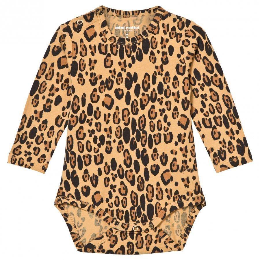 Mini Rodini Basic Leopard Baby Body Beige Body