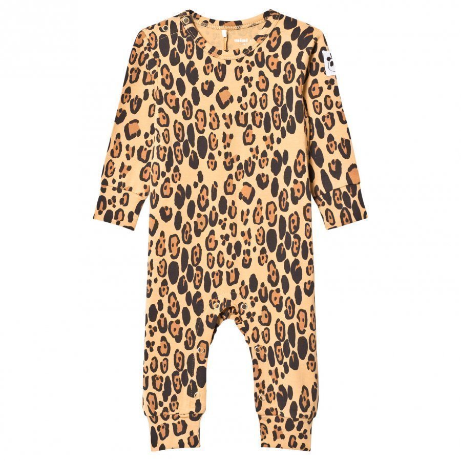Mini Rodini Basic Leopard Baby One-Piece Beige Body