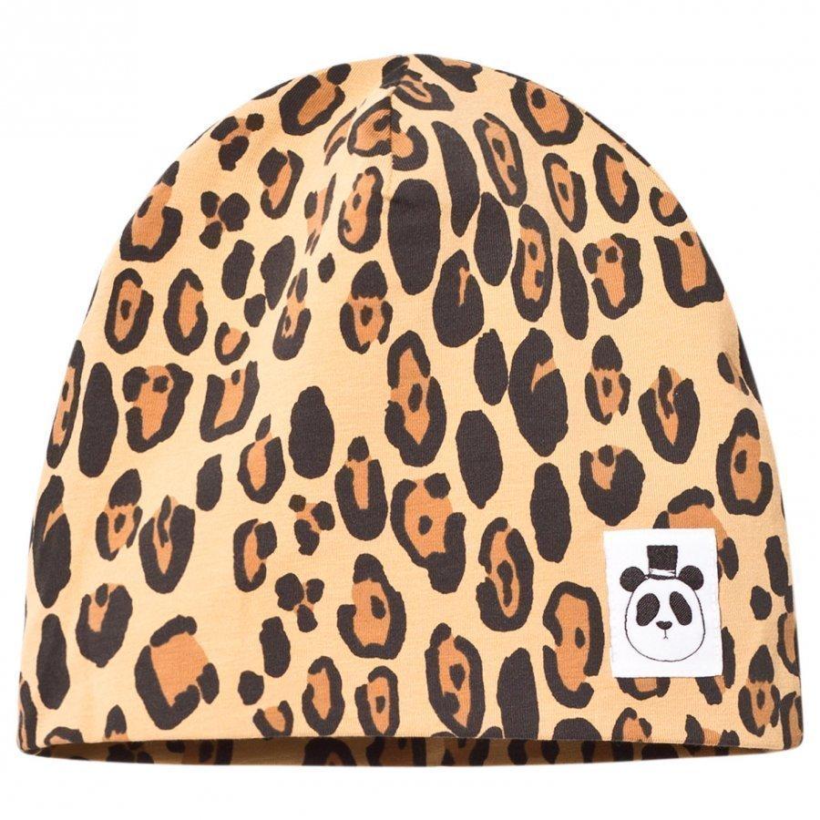 Mini Rodini Basic Leopard Beanie Beige Pipo