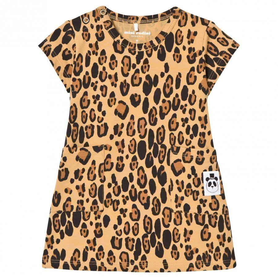 Mini Rodini Basic Leopard Dress Beige Mekko