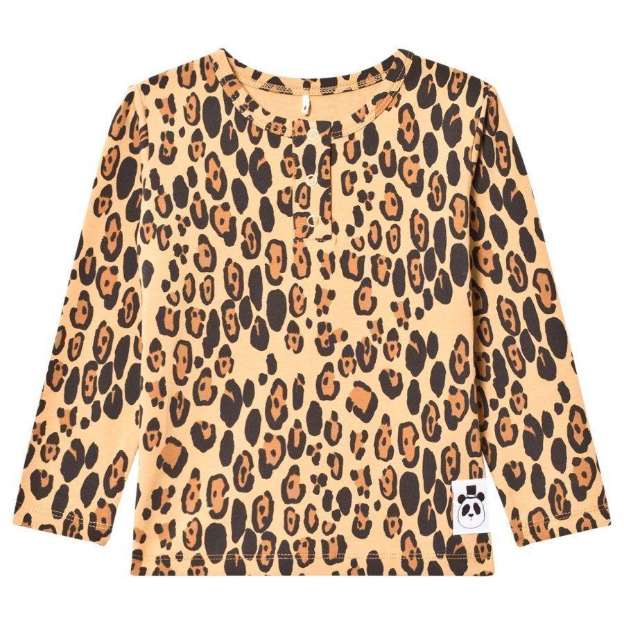 Mini Rodini Basic Leopard Grandpa Tee Beige Pitkähihainen T-Paita
