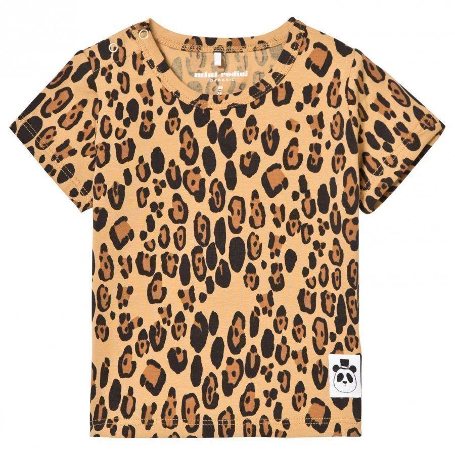 Mini Rodini Basic Leopard Tee Beige T-Paita