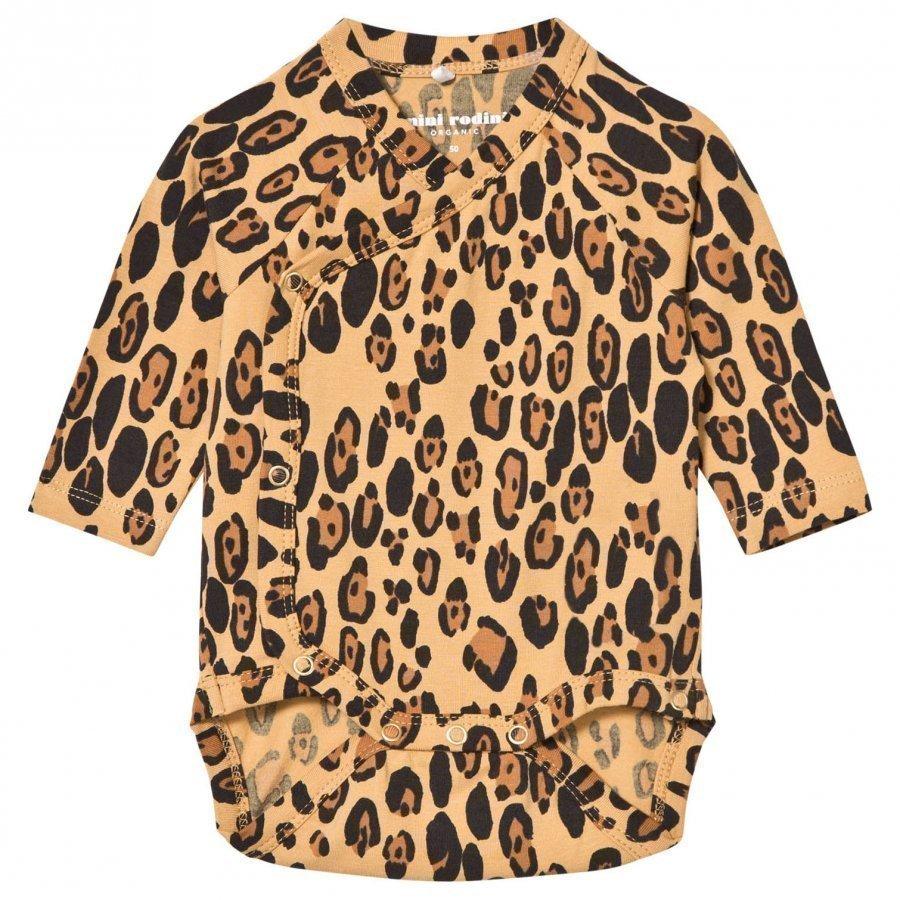 Mini Rodini Basic Leopard Wrap Baby Body Beige Body