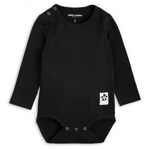 Mini Rodini Basic Ls Body Black Pitkähihainen Body
