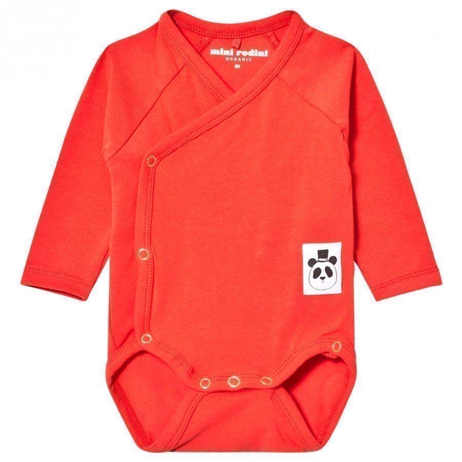 Mini Rodini Basic Wrap Baby Body Red Body