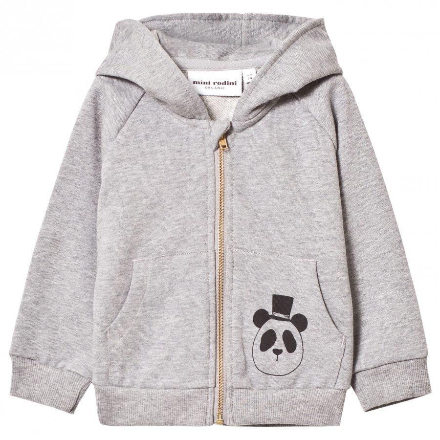 Mini Rodini Basic Zip Hoodie Grey Melange Huppari