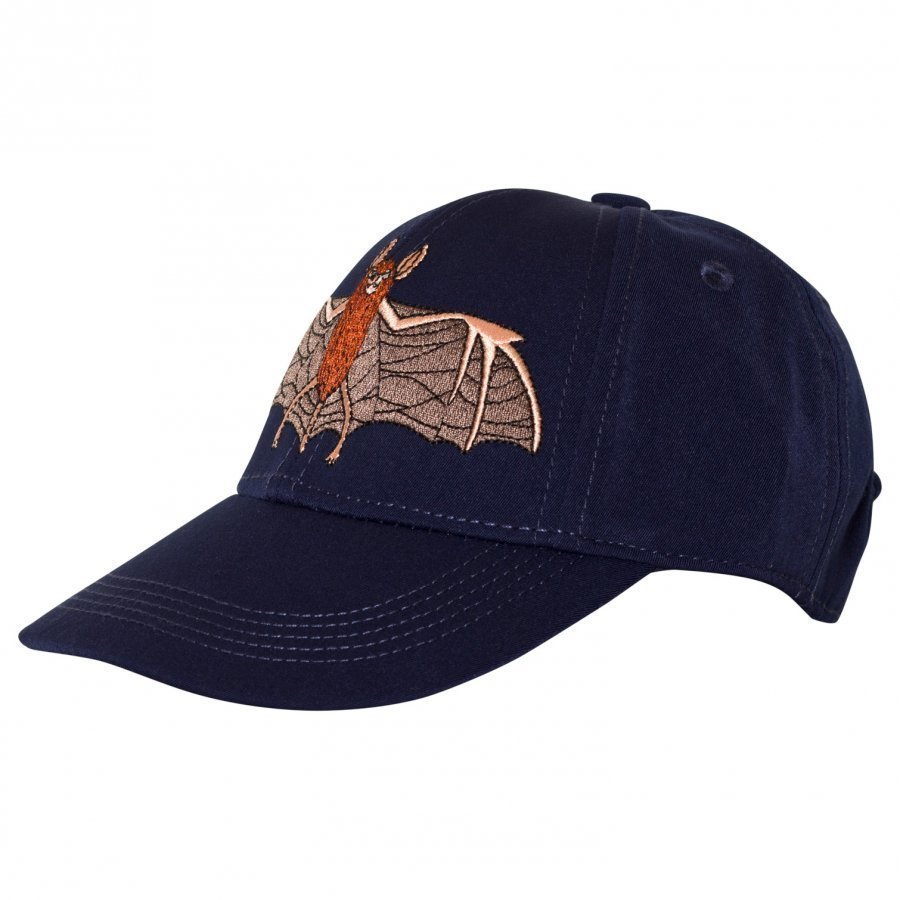 Mini Rodini Bat Embroidered Cap Navy Lippis