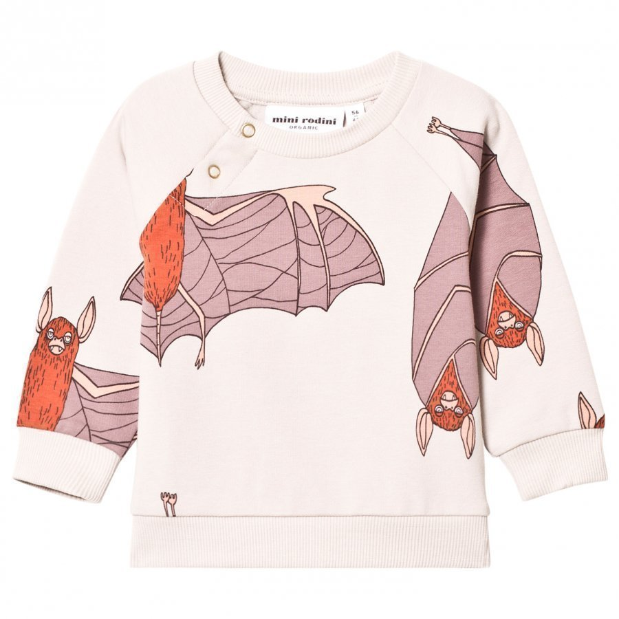 Mini Rodini Bat Sweatshirt Light Grey Oloasun Paita