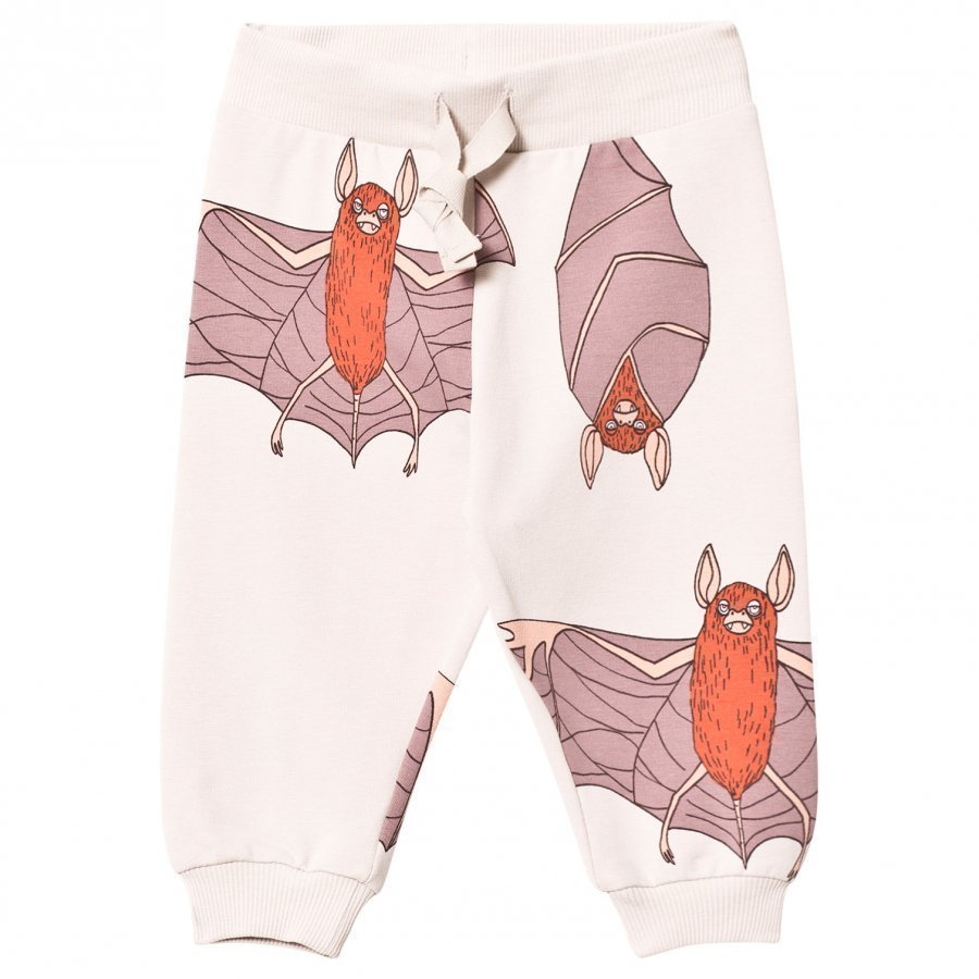 Mini Rodini Bats Sweatpants Light Grey Verryttelyhousut