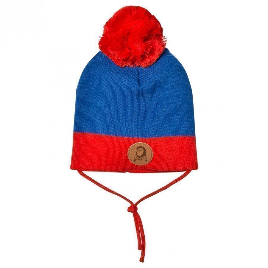 Mini Rodini Block Hat Blue Pipo
