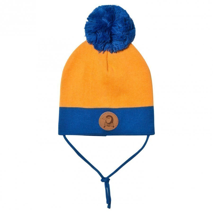 Mini Rodini Block Hat Orange Pipo