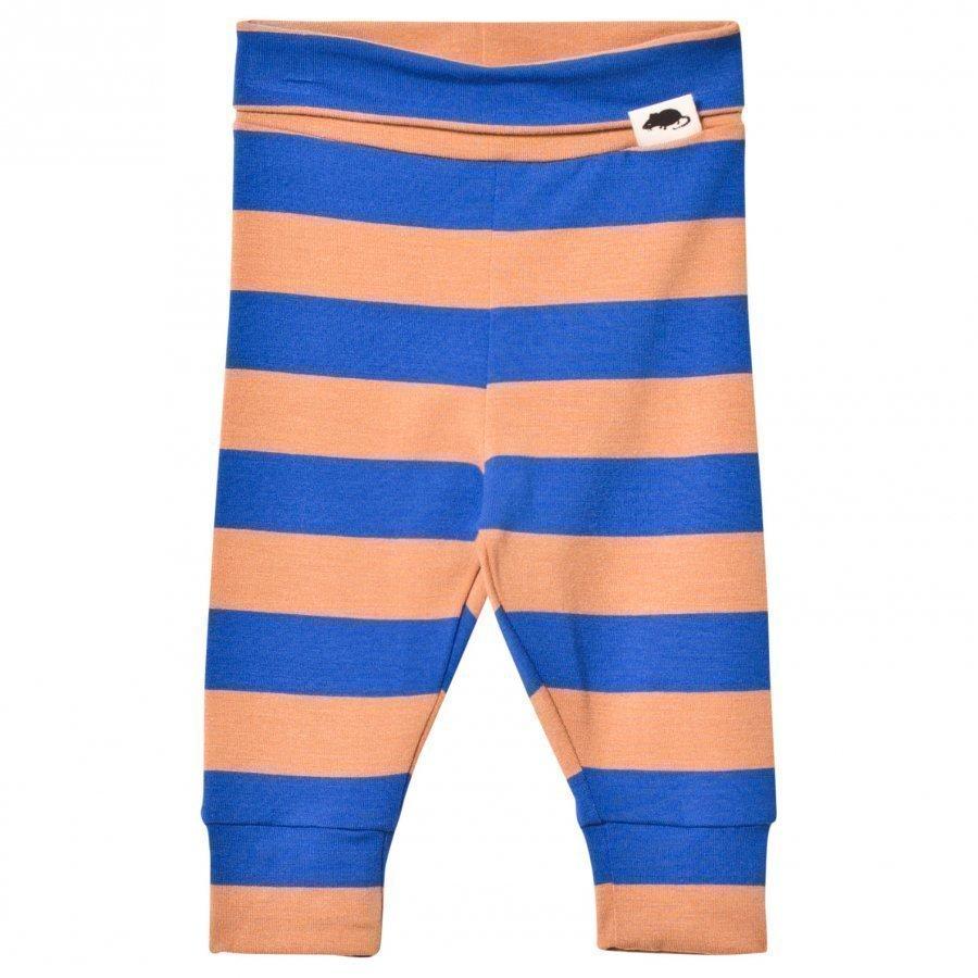 Mini Rodini Blockstripe Leggings Blue Legginsit