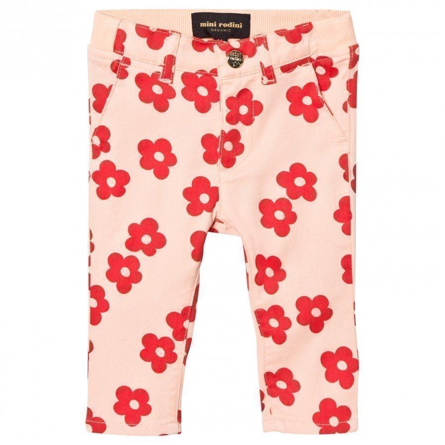 Mini Rodini Blossom Baby Chinos Pink Chinos Housut