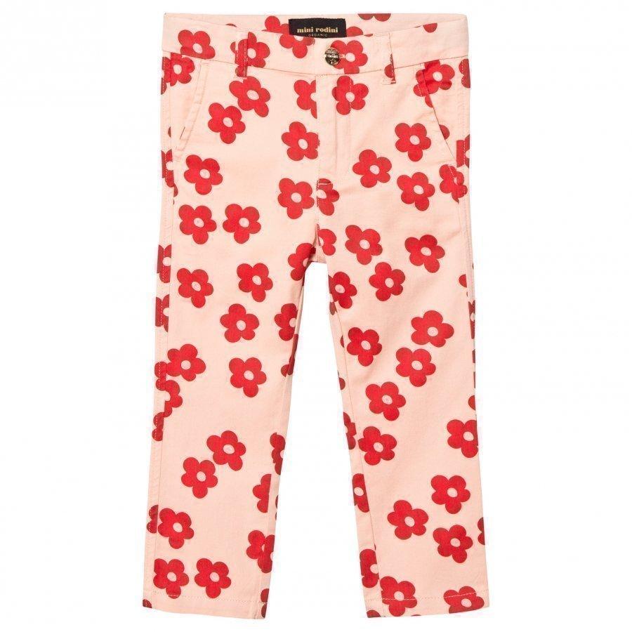 Mini Rodini Blossom Chinos Pink Chinos Housut