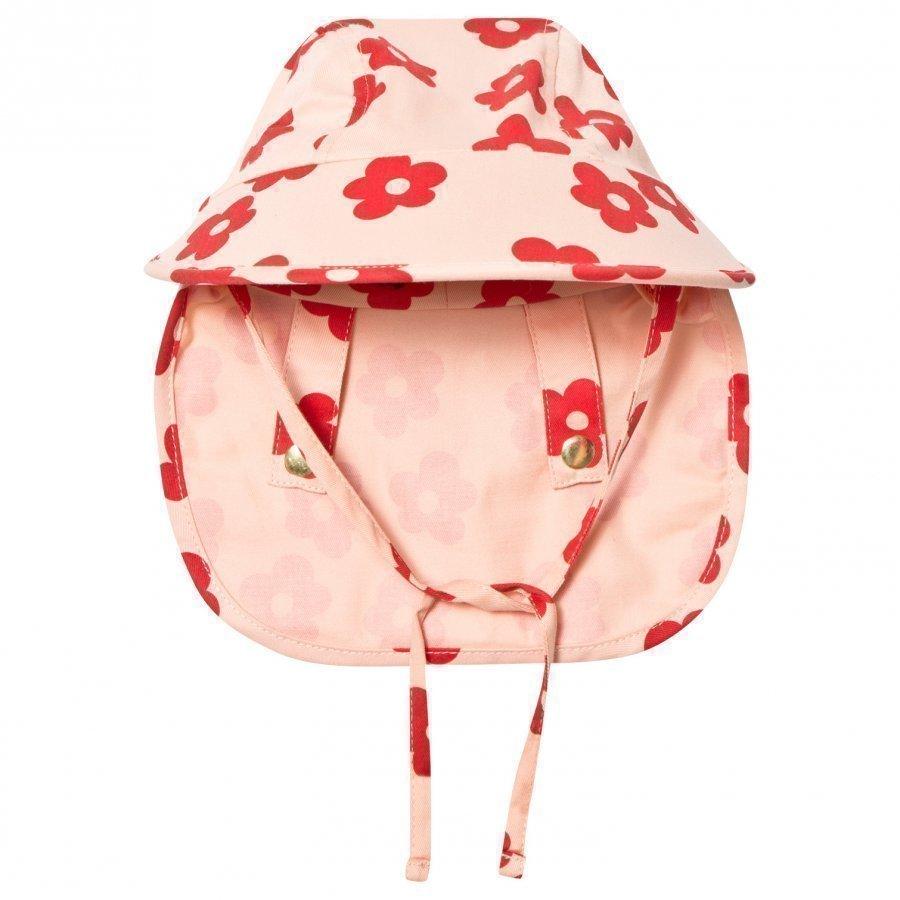 Mini Rodini Blossom Sun Cap Pink Lippis
