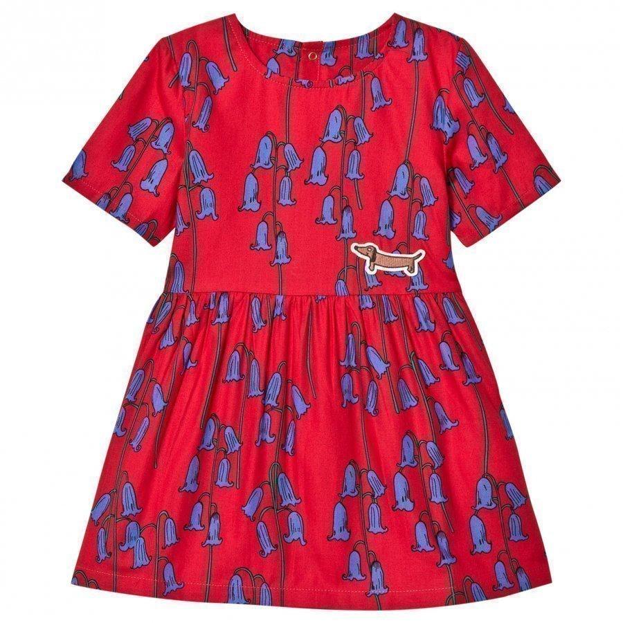 Mini Rodini Bluebell Woven Dress Red Mekko