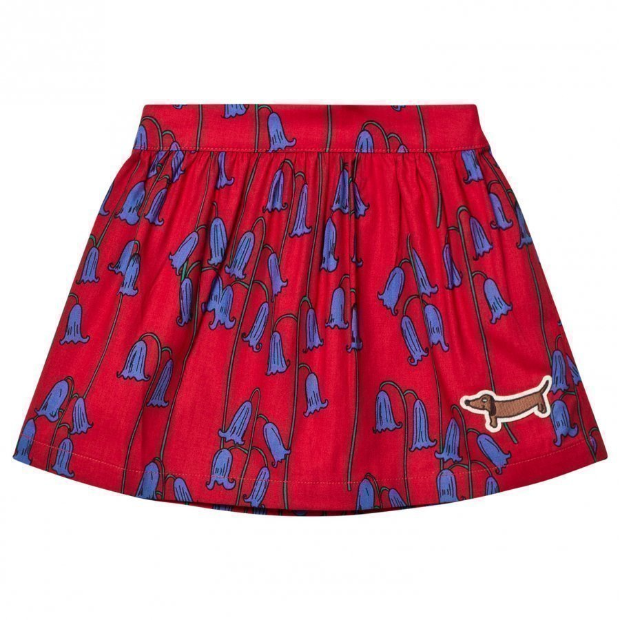 Mini Rodini Bluebell Woven Skirt Red Midihame