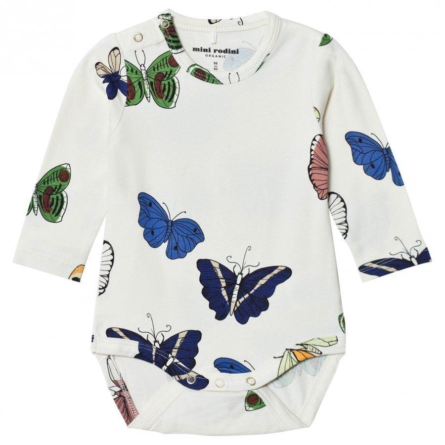 Mini Rodini Butterflies Baby Body Off White Body