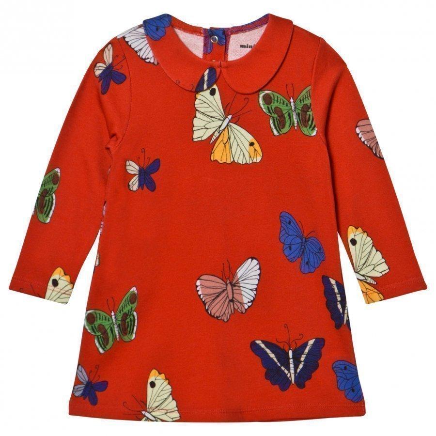 Mini Rodini Butterflies Collar Dress Red Mekko