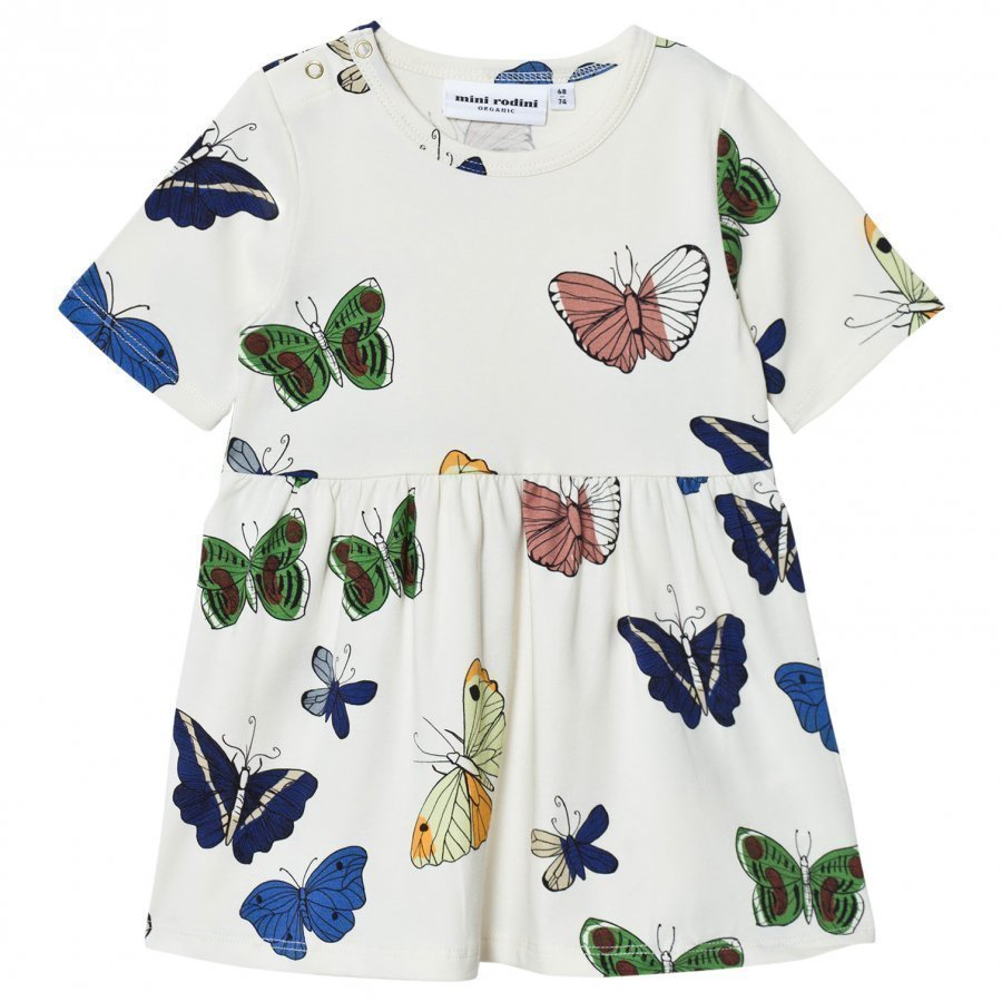 Mini Rodini Butterflies Dress Off White Mekko